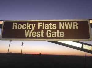 NWR sign at Rocky Flats West Gate