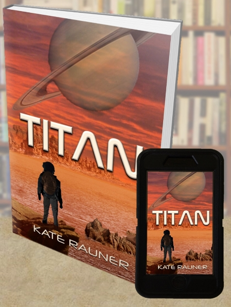 Science ficiton book cover Titan by Kate Rauner