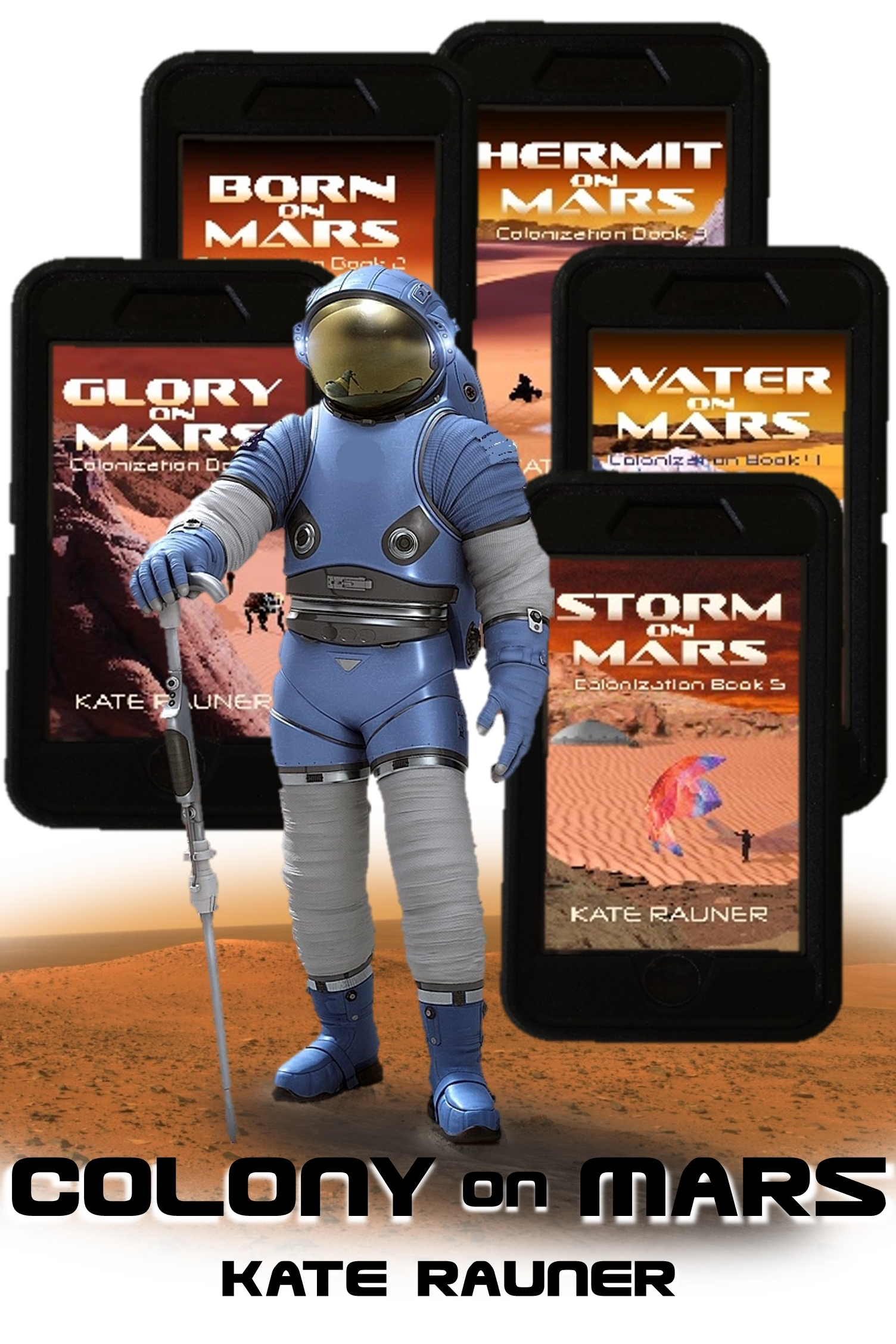 Colony on Mars bok covers