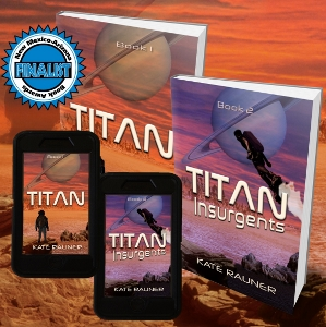 Scifi book covers - Titan series by Kate Rauner